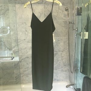 Olive Green Bodycon Midi Dress